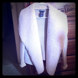 Open front long sleeve sweater cardigan